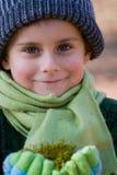 Verticale d'un bel enfant Photos stock