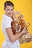Verticale d'un boulanger Image libre de droits
