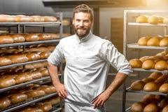 Verticale d'un boulanger images libres de droits