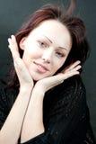 Verticale d'un brunette Photos libres de droits