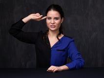 Verticale d'un brunette attirant Image libre de droits