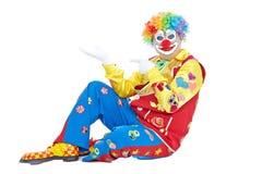 Verticale d'un clown Images libres de droits