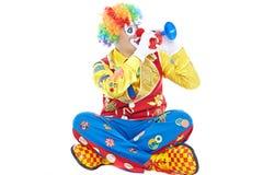 Verticale d'un clown Photographie stock