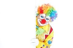 Verticale d'un clown Photo stock