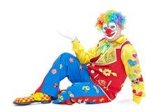 Verticale d'un clown Photographie stock libre de droits