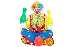 Verticale d'un clown Images stock