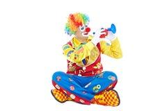 Verticale d'un clown Photos libres de droits
