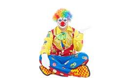 Verticale d'un clown Photo libre de droits
