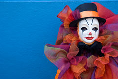 Verticale d'un clown triste photos stock