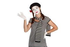 Verticale d'un comédien de pantomime photographie stock libre de droits