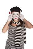 Verticale d'un comédien de pantomime image libre de droits