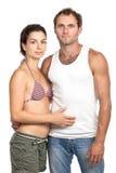 Verticale d'un couple affectueux attrayant Photographie stock