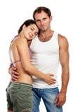 Verticale d'un couple affectueux attrayant Photographie stock libre de droits