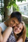 Verticale d'un couple heureux photo libre de droits