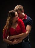 Verticale d'un couple passionné Photographie stock libre de droits