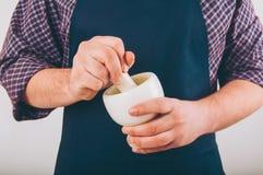 Verticale d'un cuisinier Photo libre de droits