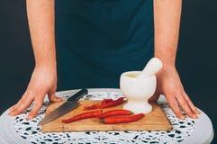 Verticale d'un cuisinier Photographie stock