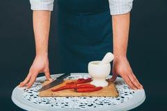 Verticale d'un cuisinier Image libre de droits