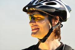 Verticale d'un cycliste Photos stock