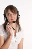 Verticale d'un employé de centre d'appel Image libre de droits