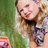Verticale d'un enfant en bas âge Photographie stock libre de droits