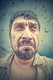 Verticale d'un homme Photographie stock libre de droits