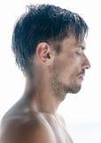 Verticale d'un homme Photo libre de droits