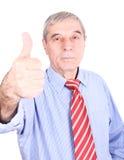 Verticale d'un homme aîné de sourire Photo libre de droits