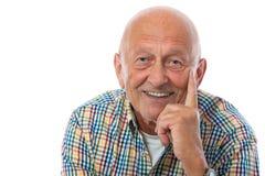 Verticale d'un homme aîné heureux Photos stock