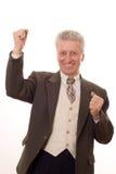 Verticale d'un homme aîné heureux d'affaires Photographie stock