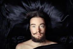 Verticale d'un homme barbu Images libres de droits
