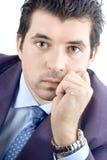 Verticale d'un homme d'affaires de corporation Photos libres de droits