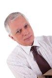 Verticale d'un homme d'affaires mûr bel Image libre de droits