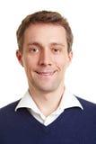 Verticale d'un homme de sourire d'affaires photo libre de droits