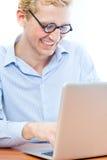 Verticale d'un homme de sourire d'affaires mûres Images libres de droits