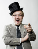 Verticale d'un homme heureux Photo stock