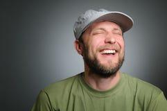 Verticale d'un homme réellement heureux Images libres de droits