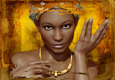 Verticale d'un jeune Africain illustration de vecteur