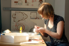 Verticale d'un jeune architecte image libre de droits