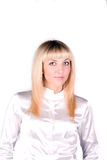 Verticale d'un jeune blond attrayant photos stock