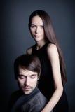 Verticale d'un jeune couple Image stock