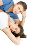 Verticale d'un jeune couple heureux Photographie stock