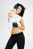 Verticale d'un jeune danseur Photos libres de droits