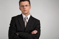 Verticale d'un jeune homme d'affaires 2 Images stock