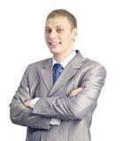 Verticale d'un jeune homme d'affaires confiant Photos stock