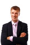 Verticale d'un jeune homme d'affaires de sourire Photos stock