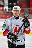 Verticale d'un joueur d'hockey Photo libre de droits