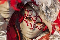 Verticale d'un masque vénitien Photographie stock libre de droits