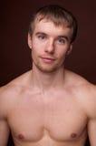 Verticale d'un modèle mâle photo libre de droits