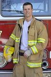 Verticale d'un pompier Image libre de droits